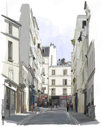 street near Montmartre in Paris - 46072839