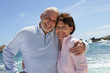 Senior couple by the sea