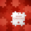 red christmas puzzle card