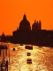 Grand canal & Santa Maria della Salute church, Venice, Italy.
