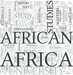 African studies Discipline Study Concept