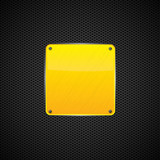 Yellow polished shiny metal plate - vector