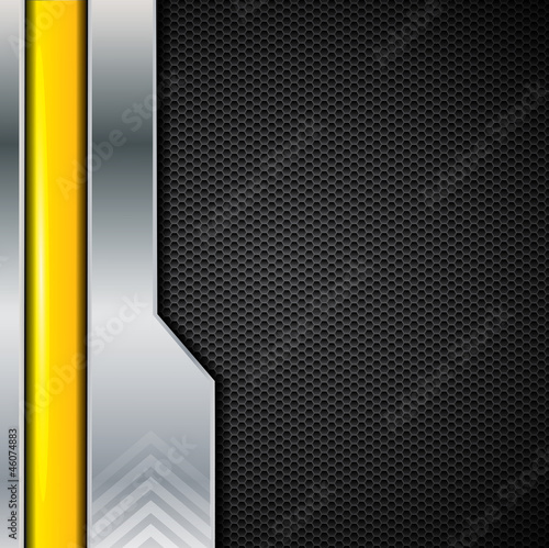Abstract metallic brochure background, vector