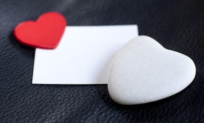 espace insertion blanc et coeur de saint Valentin