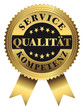 Service - Qualität - Kompetenz Premium Goldvignette