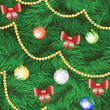 Christmas tree with bauble and bow