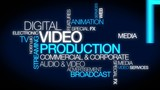 Digital video production corporate tag cloud animation