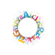 Abstract Colour Alphabet on white background # Vector