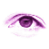 Abstract halftone digital eye. EPS 8