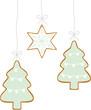 cookies tannenbäume und stern