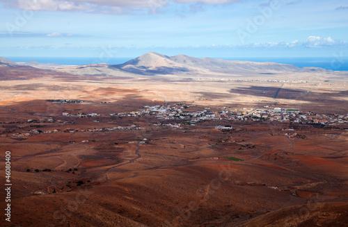 Leinwanddruck Bild central Fuerteventura, view from El Pinar