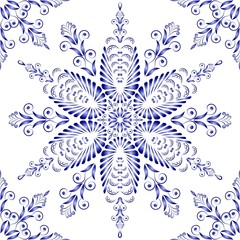 Admirable square blue pattern on a white background