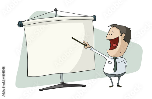 businessman make a screen presentation