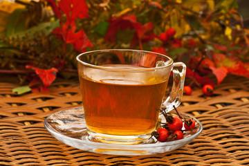 autumn rosehip tea