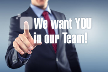 We Want YOU in our Team