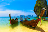 Fototapety Thailand traditional wooden boats. Sea landscape