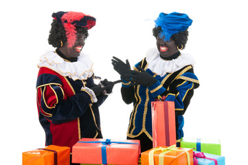 Dutch black petes with presents
