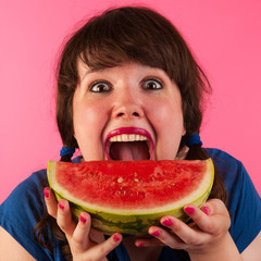 Happy with fresh fruit