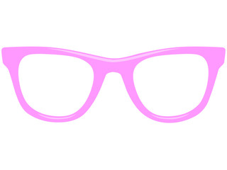 Rosa Vektor Nerdbrille von vorne
