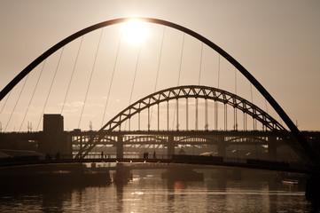 The Millenium and Tyne Bridges. Newcastle Upon Tyne.