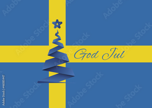 Merry Christmas background,vector,God Jul,Sweden