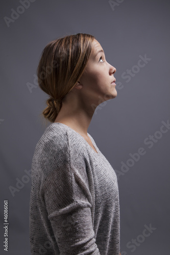Woman Looks up and Ponders