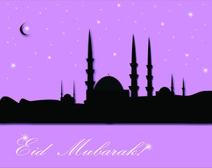 Beautiful greeting card for Eid Mubarak