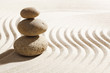 zen waves in sand