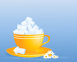sugar cube cup