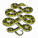 Anaconda snake - vector illustration