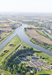 aerial view of Opole city sewage treatment plant