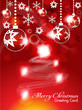 abstract christmas background with sparkle