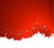 weihnachtlicher roter Hintergrund mit Schneeflocken