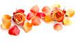 Zweifarbige Rosenblüten