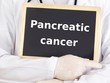 Doctor shows information: pancreatic cancer