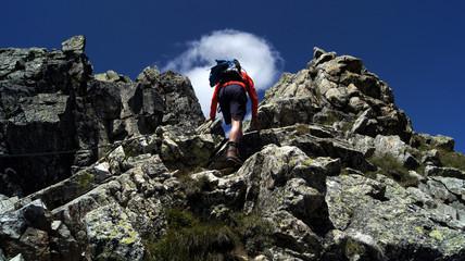 Aufstieg, Hochplattspitze,Südtirol