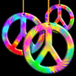 Peace Symbols Psychedelic Ornaments-Simbolo Pace Psichedelico