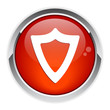 bouton internet bouclier protection security red icon