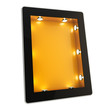 Tablet pad electronic device with backlight screen