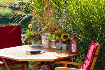 Herbststimmung am Gartenteich