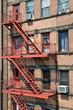 Escalier de secours à Manhattan - New York, USA