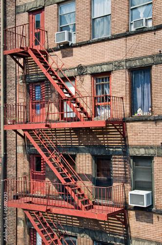 Escape Fire in Manhattan - New York, USA