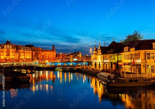 Prins Hendrikkade at Night, Amsterdam