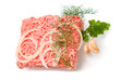 the raw minced meat