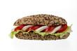 brötchen mit mozarella, tomaten und salat - 46094296