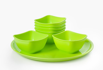 Plastic  microwave bowl and plate