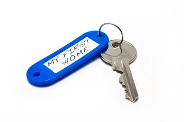 Key With Keyring Labeled My First Home