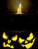 Jack o' Lanterns and burning candles