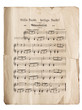 Weihnachtslied Stille Nacht. Notenblatt ca. 1900