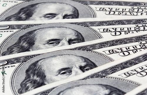 American hundred dollar bills